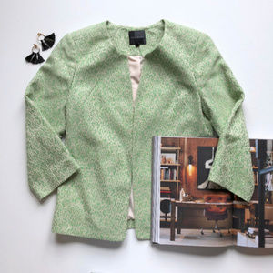 NEW The Limited Green Tweed Blazer